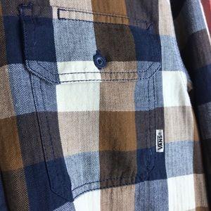 Vans Shirts - VANS I Men's Flannel Long Sleeve Button Down Med